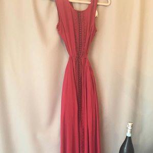 NWT Red Cutout Maxi Dress
